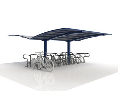 Double Sided Access Bike Shelter