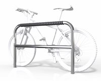 Large 2 Bike Rail with Security Bar - Fixed